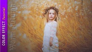 getlinkyoutube.com-How To Create Warm Autumn Color Effect - Photoshop CC Tutorial