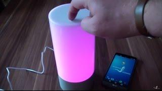 getlinkyoutube.com-Xiaomi Yeelight Nachttischlampe mit App-Steuerung im Review/Test deutsch