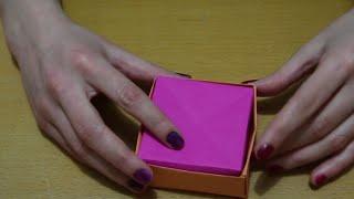 getlinkyoutube.com-Kağıttan Kapaklı Kutu Yapımı - Origami