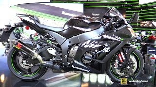getlinkyoutube.com-2016 Kawasaki Ninja ZX10R Winter Test Edition - Walkaround - 2015 Salon de la Moto Paris