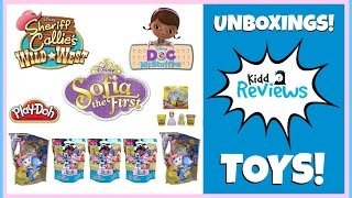 getlinkyoutube.com-Kidd Reviews- Sheriff Callie, Doc McStuffins, Sofia the First Disney Junior Toys Unboxing Blind Bags