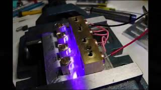 getlinkyoutube.com-🔴 Worlds most powerful visible handheld laser /10.2W Quad Diode Array (10,200mW)