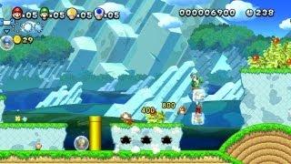 マリオU 「ドングリへいげん-3」 氷に乗ってゴールまで