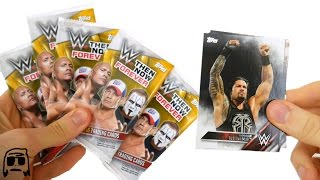 getlinkyoutube.com-WWE Then, Now, Forever Topps Trading Cards 2016 FIVE PACKS OPENED! CONSPIRACY UNEARTHED!!