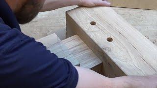 getlinkyoutube.com-Timber Framing Mortise & Tenon