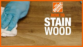 A video reviews the steps for how to stain wood.