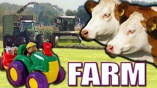 getlinkyoutube.com-Joe MacDonald Kids Animals on Farms video with Farm Animals Horses Cows a Kids video of farm animals