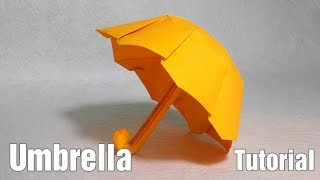 getlinkyoutube.com-Easy Origami Umbrella tutorial - DIY (Henry Phạm)