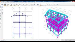 getlinkyoutube.com-SAP2000-Villa Project Draw Columns, Beams, Slabs and Roofs