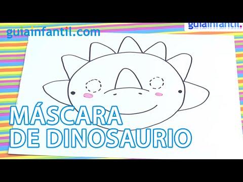 Máscara de Dinosaurio para niños