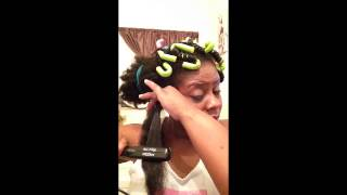 getlinkyoutube.com-How to curl marley hair with out dipping in hot water!!!!