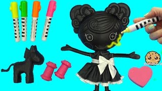 getlinkyoutube.com-Lalaloopsy Trace E Doodles Color Me Draw with Markers & Stamp Doll Cookieswirlc Video