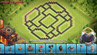 getlinkyoutube.com-NEW Town hall 10 war base  farming base extra walls+25 New clash of clans clash update