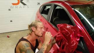 getlinkyoutube.com-Professional level. How to vinyl wrap your mirror. Red chrome. By @CKWRAPS www.ckwraps.ca