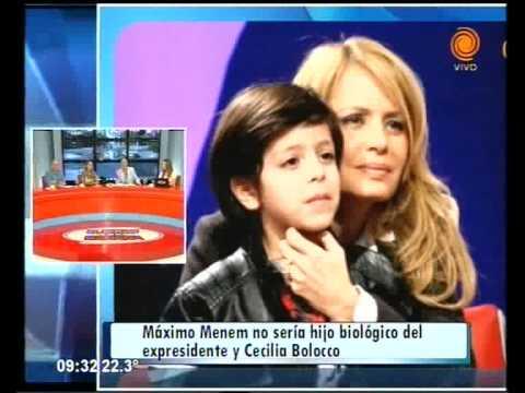 Máximo Menem no sería hijo biológico del expresidente y Cecilia Bolocco 12 02 2015
