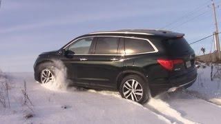 getlinkyoutube.com-AWD TEST: Honda Pilot 2016 in snow and ice