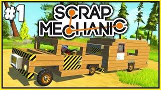 getlinkyoutube.com-Scrap Mechanic Gameplay #1 - Volvo and Caravan Camping
