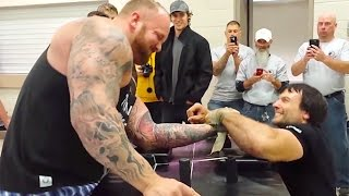 getlinkyoutube.com-'The Mountain' from 'Game of Thrones' Gets Crushed in Arm Wrestling Competition