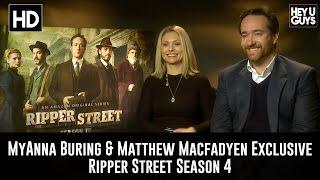 getlinkyoutube.com-MyAnna Buring & Matthew Macfadyen Exclusive Interview -  Ripper Street Season 4