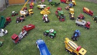 getlinkyoutube.com-BRUDER TOYS BIG BIG farm family  MACK Scania CLAAS Fendt STEYR New Holland CASE Deutz JCB