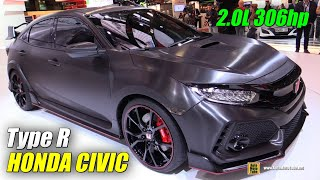 getlinkyoutube.com-2018 Honda Civic Type R Prototype - Exterior Walkaround - Debut at 2016 Paris Motor Show
