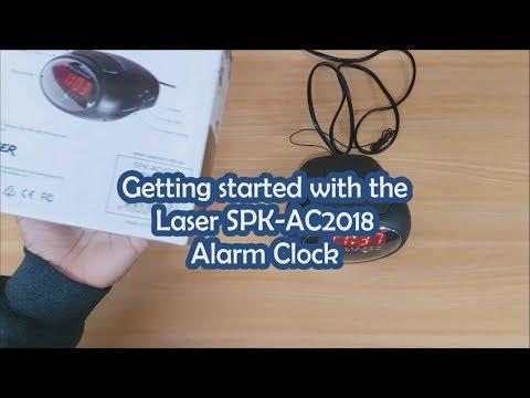 Laser Digital Alarm Clock