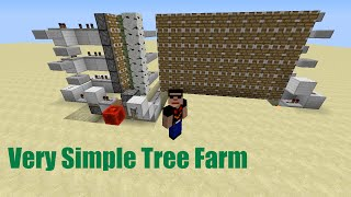 getlinkyoutube.com-How to Build a Simple/Cheap Semi-Auto Tree Farm in Minecraft (Works in 1.11)