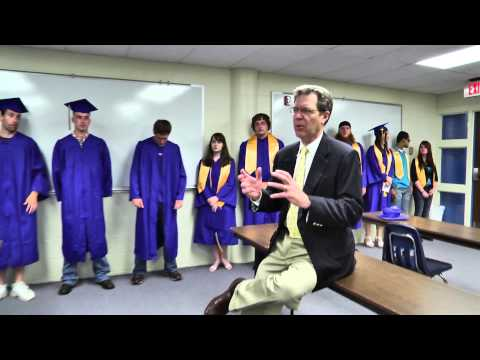 Kansas Governor greets Barton graduates 2013