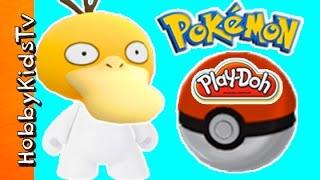 getlinkyoutube.com-Pokemon Extravaganza! Color Blanks + Open Play Doh Pokeballs and Wrestling HobbyKidsTV