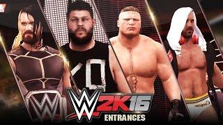 getlinkyoutube.com-Top 10 WWE 2K16 Entrances (Pre-Launch)