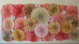 getlinkyoutube.com-Roseta de papel - Paper Fan - Rosettes