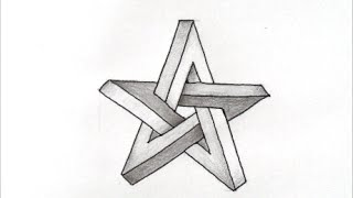 getlinkyoutube.com-[だれでも描ける!線画アート] 面白いだまし絵の描き方(スター編) How to draw