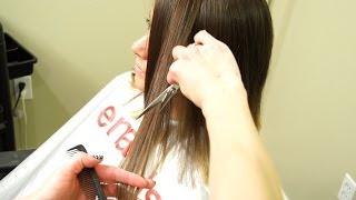 getlinkyoutube.com-How To Cut a Textured Bob // Short Haircuts for women
