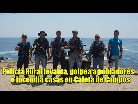 Policía Rural levanta y golpea a pobladores en Caleta de Campos, Michoacán