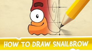 getlinkyoutube.com-How to Draw Snailbrow from Cut the Rope 2