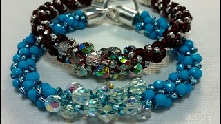 getlinkyoutube.com-(Tutorial) Kumihimo Czech Twist Bracelet (Video 129)