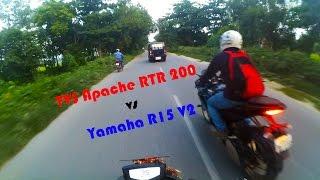 getlinkyoutube.com-TVS Apache RTR 200 4V vs Yamaha R15 V2 - Dangerous Street Race. Episode 2. 1080p 60 FPS!