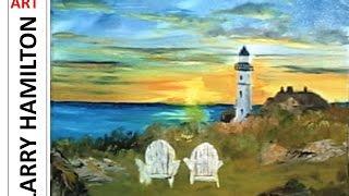 "getlinkyoutube.com-Paint Along with Larry Hamilton- Feb. 18, 2015 ""Portland Head Lighthouse"""