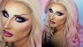 getlinkyoutube.com-DRAG QUEEN MAKE UP - Blonde Venus