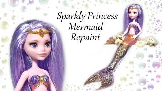 Princess Mermaid Doll Repaint - DIY Craft Tutorial