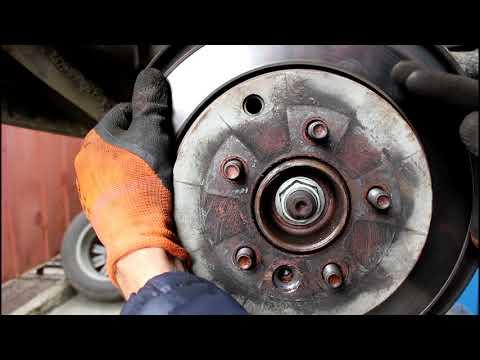 Замена задних тормозных дисков Land Rover Discovery 3 Ленд Ровер Дискавери 3
