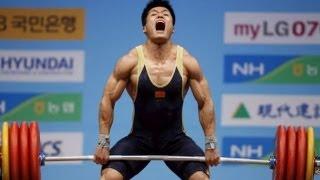 getlinkyoutube.com-2013 China National Games Weightlifting Men's 77 kg, Lu Xiaojun, SEP 9