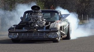 Driving the 800 HP Blown Hulk Camino Rat Rod (1959 El Camino) by ITW Hot Rods