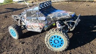 getlinkyoutube.com-RC ADVENTURES - Mixed-class Large Scale Trucks Offroad, Open Track Practice 4x4 and 2WD