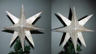 getlinkyoutube.com-DIY- Como fazer estrela para usar na arvore de natal!!!