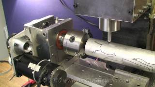 getlinkyoutube.com-New Super Duty 4th Axis Rotary Engraving on mini-machining center