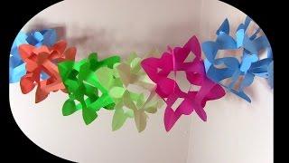 getlinkyoutube.com-كيف تصنع زينة من ورق أو أكياس البلاستيك المستهلكة