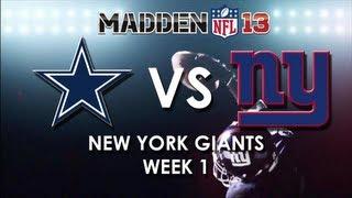 Madden 13: Dallas Cowboys vs. New York Giants - Franchise