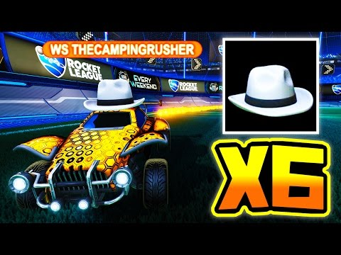 6 WHITE HATS IN ONE GAME!! ( $60 000 Rocket League Lobby )