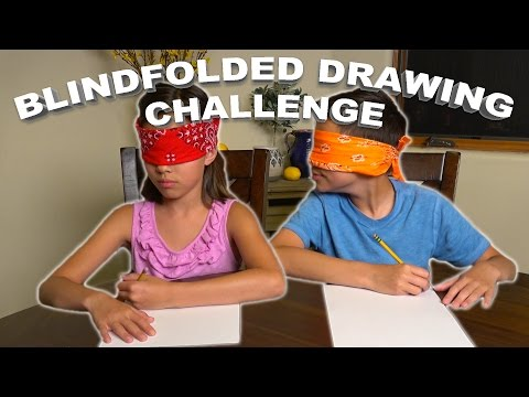 BLINDFOLDED DRAWING CHALLENGE!!!